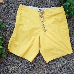 PATAGONIA Swim Board Shorts Yellow 31
